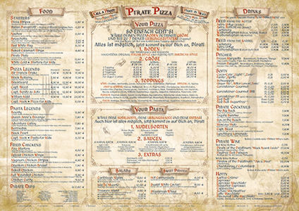 Pirate Pizza Tischset